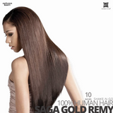 SHAKE-N-GO Milky way 100% REMY HUMAN HAIR WEAVING SAGA GOLD  #10  inches
