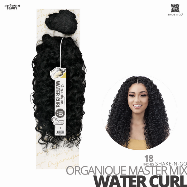 SHAKE-N-GO Organique Mastermix Synthetic Bundle Weave #Water Curl 18 inches