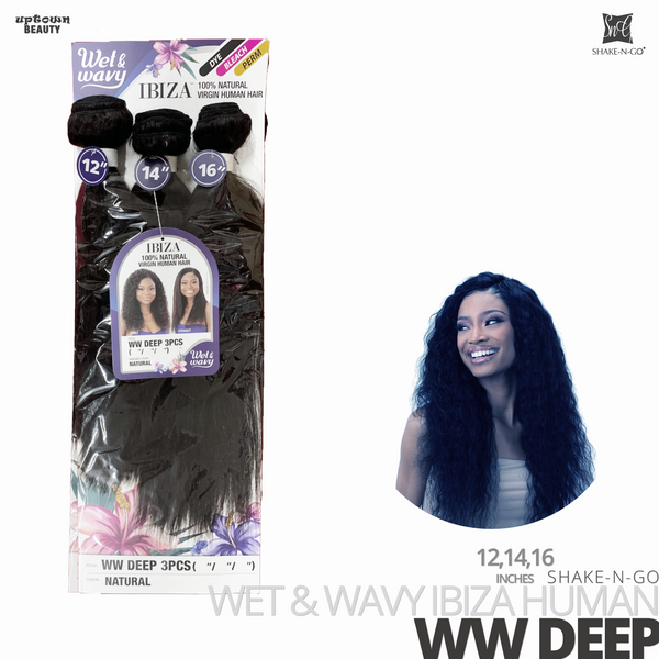 SHAKE-N-GO Wet & Wavy IBIZA  Bundle Weave 3PCS #WW Deep 12-14-16 inches
