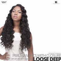Sensationnel Bare&Natural Bundle Pack Virgin Human Hair #Loose Deep #12.12.14.14.16.16 inches with Closure
