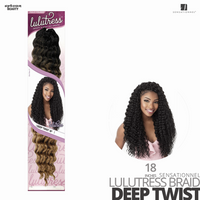 Sensationnel Lulutress Crochet Braids #Deep Twist 18 inches