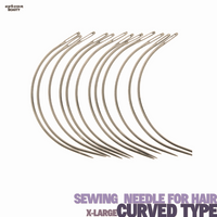 Sewing Needle for Hair #C (Curved) -Type -X-Large