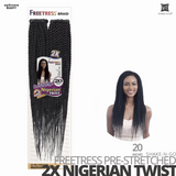 Shake n Go Synthetic Freetress Pre-Stretched 2X Nigerian Twist #20inches