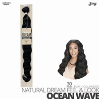 ZURY HOLLYWOOD Synthetic Natural Dream Feel & Look Bundle Weave #Ocean Wave 30 inches
