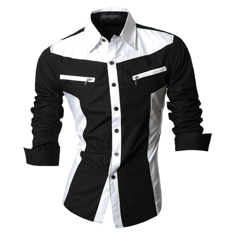 New Men's 2-Color Casual Collared Shirt - Unique Outfit for Men