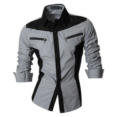 Unique Outfit for MenNew Men's 2-Color Casual Collared Shirt