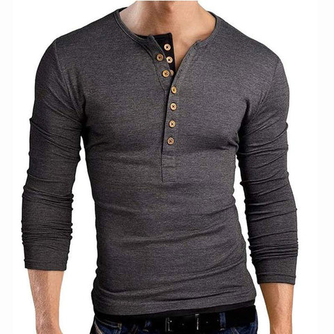 Unique Outfit for MenSlim Fit V Neck Long Sleeve Tee Shirt