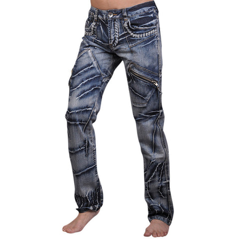 Unique Outfit for MenNew Men's Designer Dragon Printing Denim Jeans