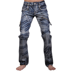 New Men's Designer Dragon Printing Denim Jeans - Unique Outfit for Men