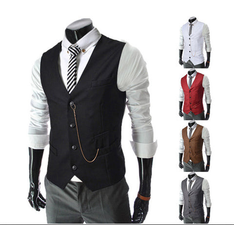 Mens Dress Vest Europe Single Breasted - Unique Outfit for Men