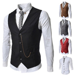 Unique Outfit for MenMens Dress Vest Europe Single Breasted