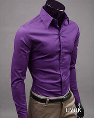 Unique Outfit for MenNew Men's Stylish Long Sleeved Dress Shirt - 15 Different Colors!!