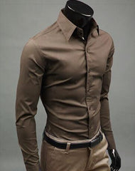 New Men's Stylish Long Sleeved Dress Shirt - 15 Different Colors!! - Unique Outfit for Men