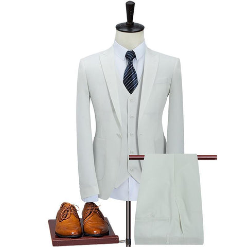 Unique Outfit for MenClassic Suit Men Slim Fit (Jacket,Vest,Pants)
