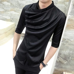 Gothic Ruffle Collar Shirt - Unique Outfit for Men