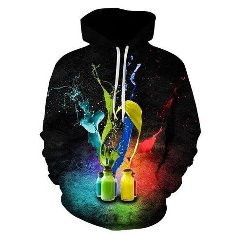 Unique Outfit for MenInk Bottle Printed Hoodies Pullover
