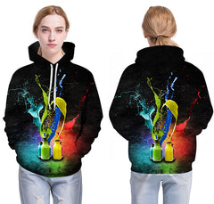 Ink Bottle Printed Hoodies Pullover - Unique Outfit for Men