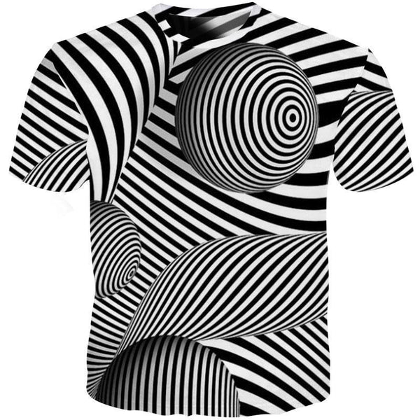 Unique Outfit for MenTrippy 3D T Shirt Optical Illusion
