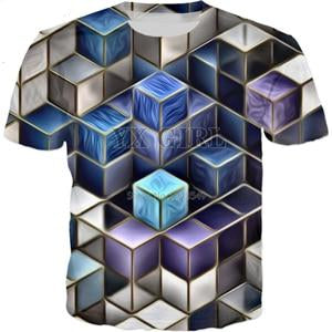 Unique Outfit for Men2018 Trippy Cubes 3D Print T Shirt