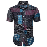 Unique Outfit for MenMens Beach Hawaiian Tropical Summer Short Sleeve Shirt Button Up