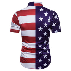 Unique Outfit for MenStar Flag Printed Men's Shirt