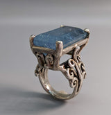 Aquamarine, Sterling Silver Ring