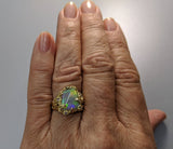 Lightning Ridge Opal, 14kt Gold Ring