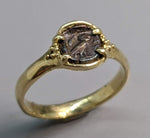 Ancient Owl AR Hemiobol 14kt Gold Ring