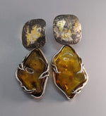 Keum Boo and  Amber Sterling Silver Earrings