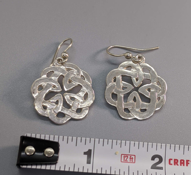 Book of Kells Small Sterling Silver Earrings