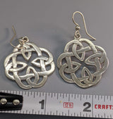 Book of Kells Medium Sterling Silver Earrings