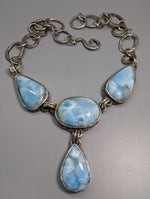 Larimar Sterling Silver Necklace