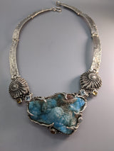 Hemimorphite Sterling Silver Necklace