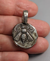Sterling Silver Ancient Coin Replica, Ephesus Bee