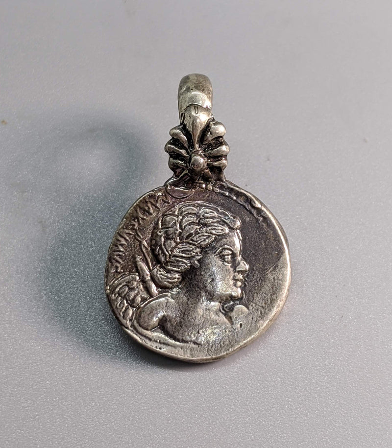 Sterling Silver Ancient Coin Replica, Cupid