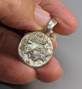 Sterling Silver Ancient Coin Replica, Pegasus Stater