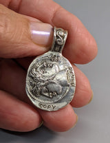 Sterling Silver Ancient Coin Replica, Janus