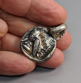 Sterling Silver Ancient Coin Replica, Old Style Athena Tetradrachm