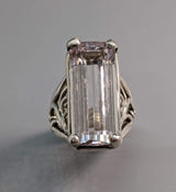 Kunzite Sterling Silver Ring