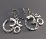 Om Symbol Sterling Silver Earrings