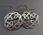 Medium Sterling Silver Book of Kells Round Earrings