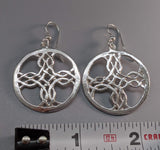 Sterling Silver Woven Cross Earrings