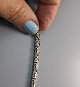 "18"" 5 mm Flat Sterling Silver Balinese Chain"