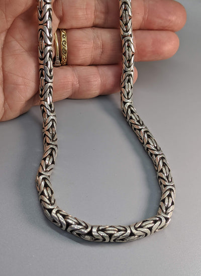 "22"" 6 mm Sterling Silver Balinese Chain"