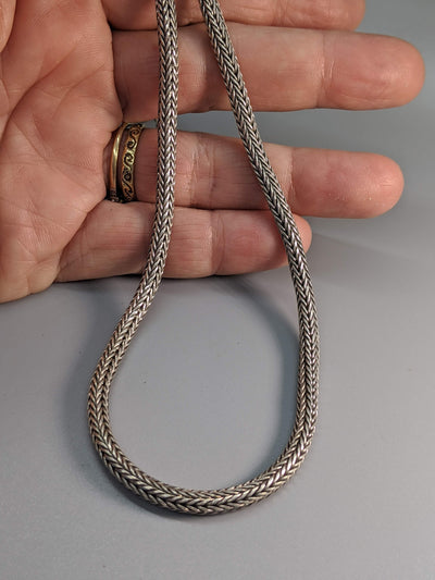 "18"" 4 mm Sterling Silver Balinese Chain"