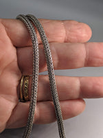 "18"" 4 mm Sterling Silver Balinese Snake Chain"