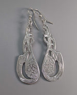 Sterling Silver Celtic Cormorant Earrings