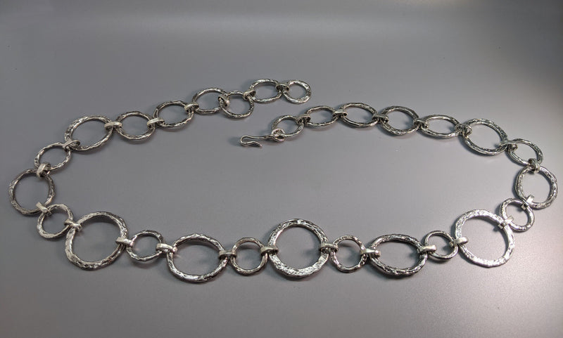 Sterling Silver Large Link Necklace