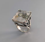 Pyritized Quartz Sterling Silver Ring