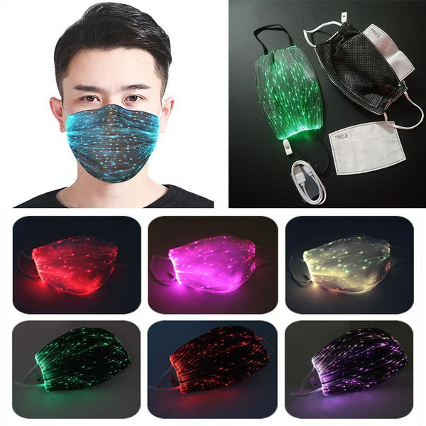 Glowing Mask With PM2.5 Filter 7 Colors Luminous LED Face Masks